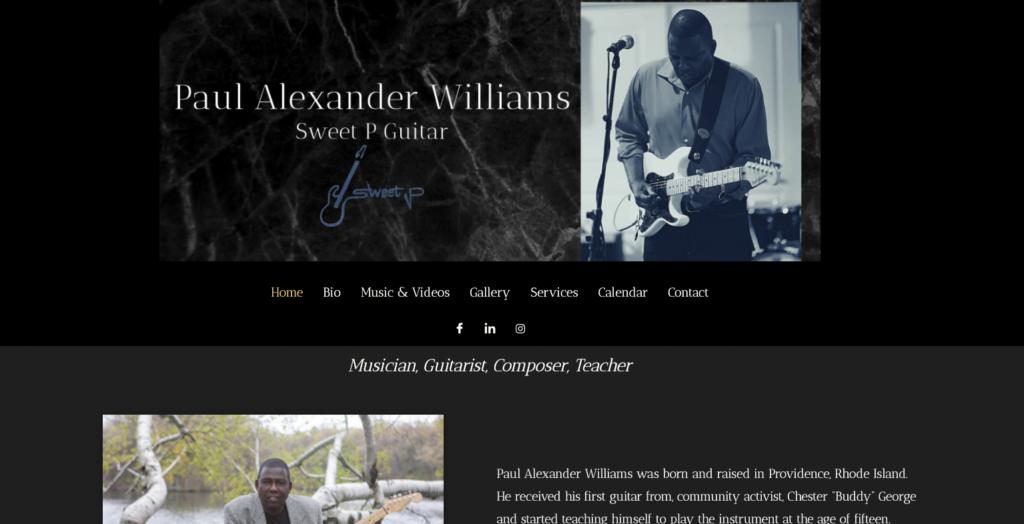Sweet P Guitar Website