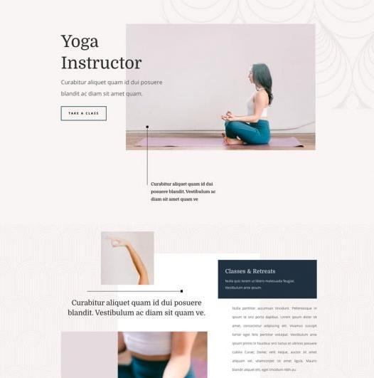 Yoga Studio/Instructor Website Template