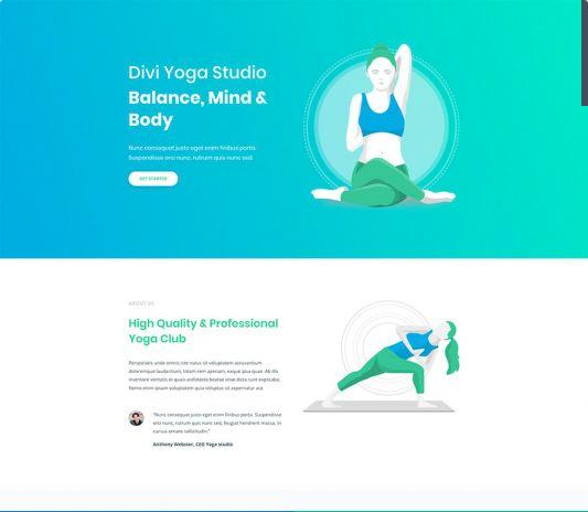 Yoga/Meditation Template