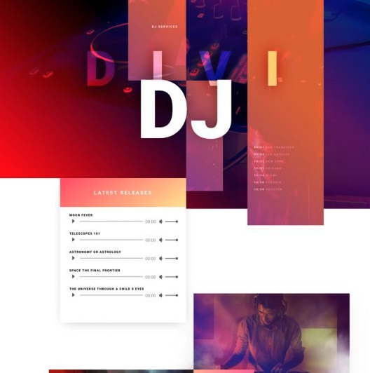 Musician website templates